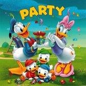 Uitnodigingen Disney Vierkant - Donald Duck, Katrien Duck, Kwik, Kwek en Kwak