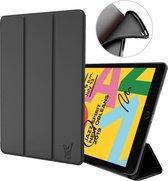 iPad 10.2 2019 Hoes - Smart Book Case Siliconen Hoesje - Zwart