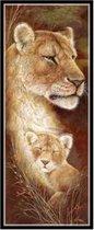 Diamond Painting Sepia Schilderijen - 25x55cm - Leeuw