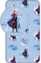 Disney Frozen 2 Hoeslaken - 90 x 200 - Eenpersoons - Blauw