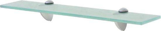 Zwevende Wandplank Glas 50x20cm (Incl fotolijst) - Boekenplank - Muurplank - Wandrek - Boeken plank
