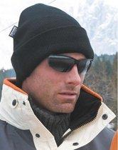Zachte winter skimuts zwart