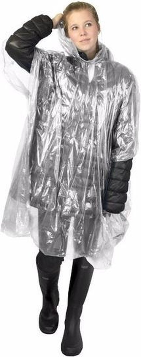 Wegwerp regenponcho transparant - wegwerpponcho
