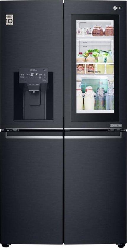 LG GMK9331MT - Amerikaanse koelkast - Geborsteld zeer donker Antraciet