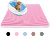 Kattenbakmat – Grit Opvanger – Schoonloopmat – Katten Mat – Matje Voor Kattenbak – 40X50CM - Roze