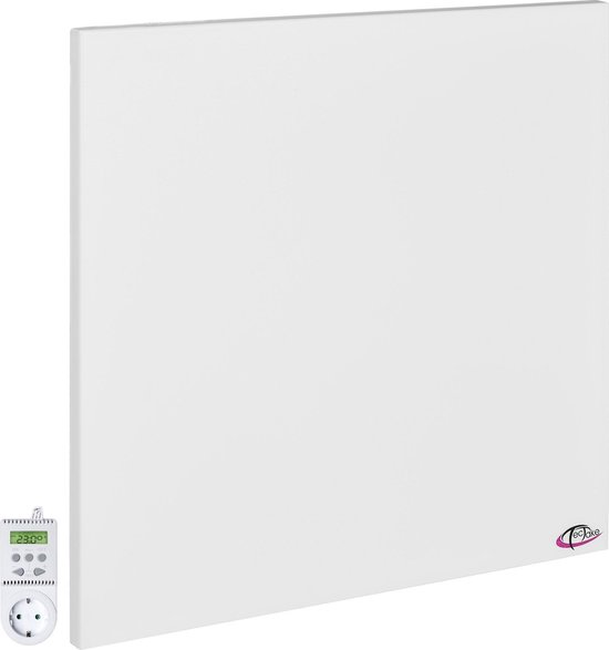 TecTake - Infrarood verwarming 600 x 600 mm- 450 W + thermostaat - 401706
