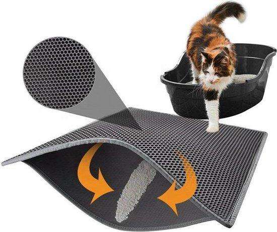 Kattenbakmat – Grit Opvanger – Schoonloopmat – Katten Mat – Matje Voor Kattenbak – 40X50CM - Bruin