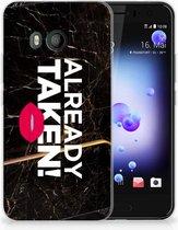 HTC U11 TPU-siliconen Hoesje Design Already Taken Black