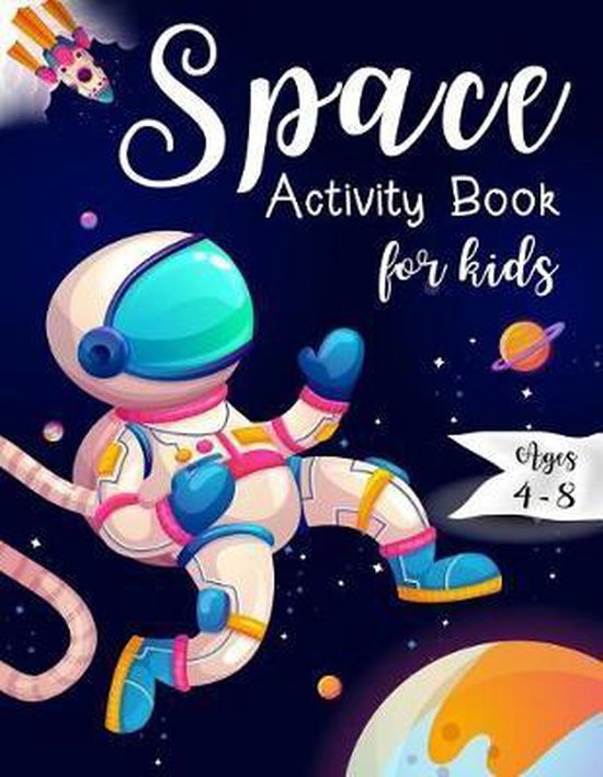 Space Activity Book for Kids Ages 4-8