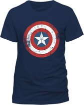 Marvel Captain America Cracked Shield Marvel Heren T-shirt Maat XL