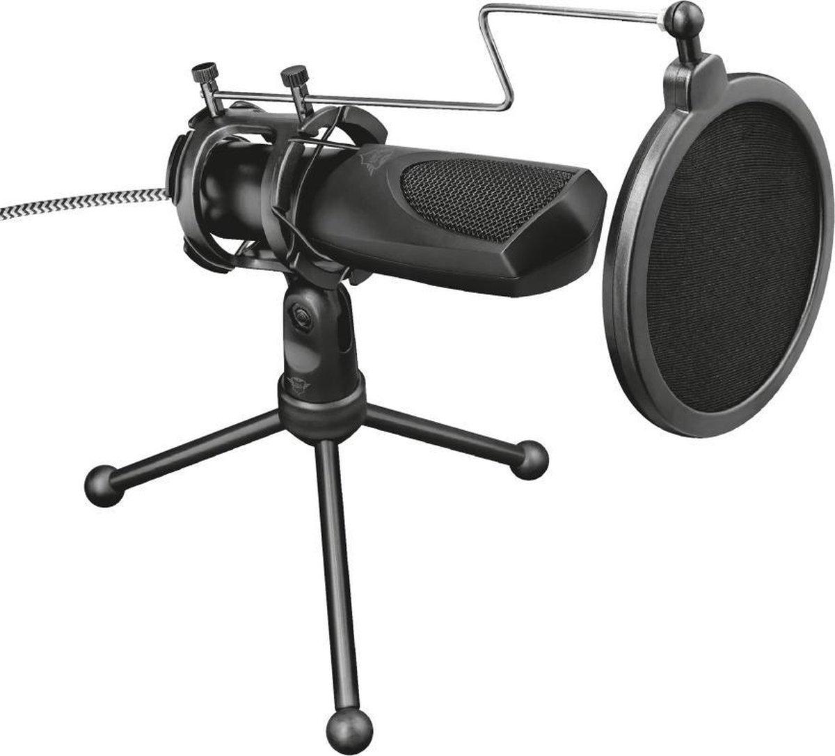 Trust GXT 232 Mantis - Microfoon - Gaming & Streaming - USB - Zwart - PS5
