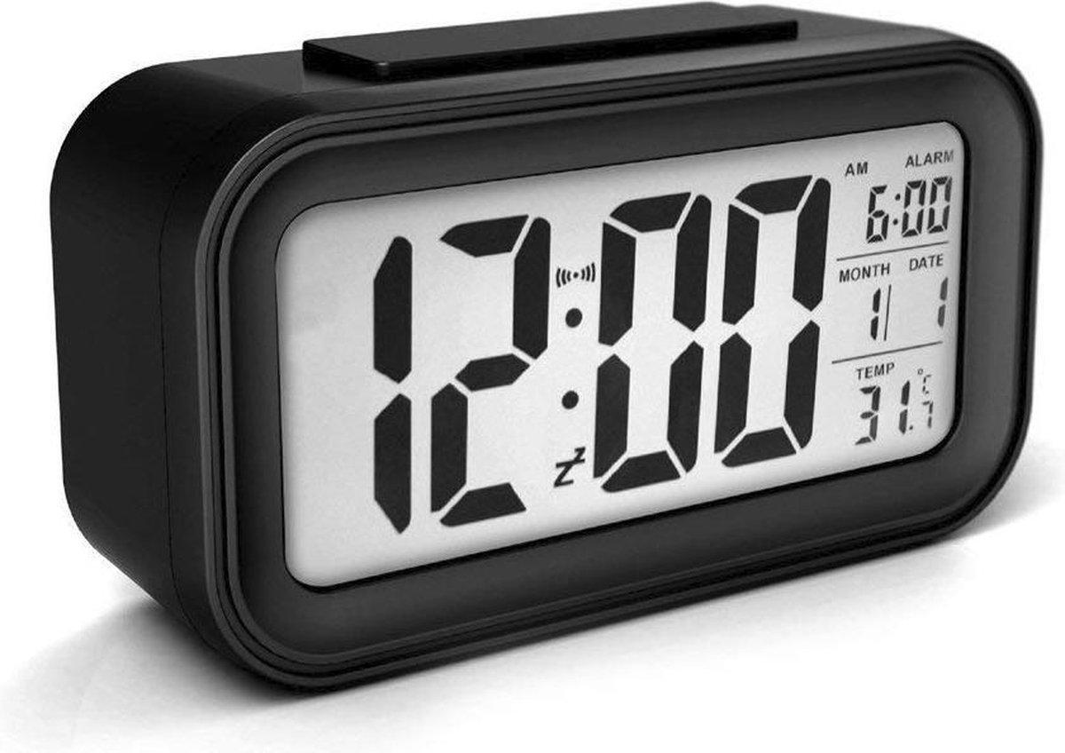 JAP Clocks AC18 digitale wekker - Alarmklok - Inclusief temperatuurmeter - Met snooze en verlichting