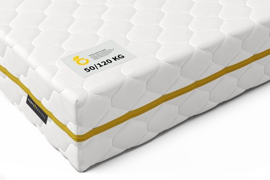 Pocketvering Matras tot 120 kg 120 x 200 cm - 7 Comfort Zones & Cocomat