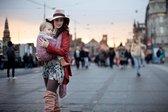Geweven draagdoek baby - Oud Roze - Mixite Lush - Maat 6 - Te gebruiken vanaf geboorte - Van super zacht Italiaans katoen