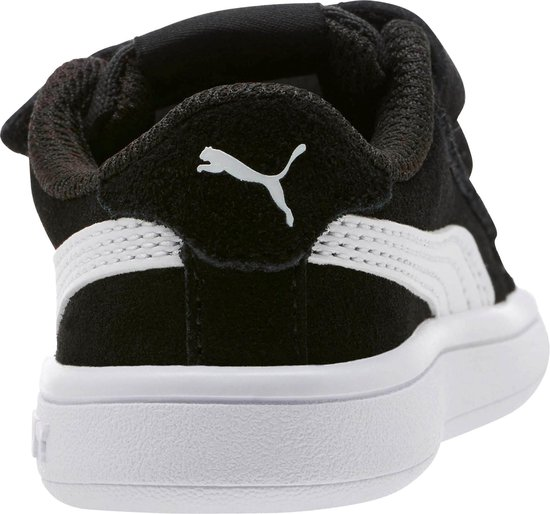 PUMA Smash v2 SD V Inf Kinderen Sneakers - Puma Black-Puma White - Maat 21 - PUMA