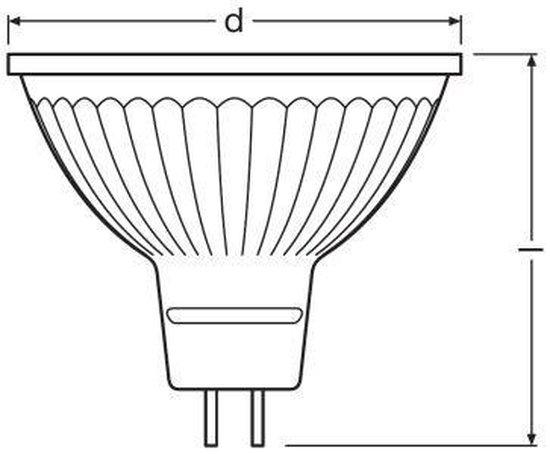 Osram MR16 OSR LED 3,4W 230Lm 36° 2700K dimbaar