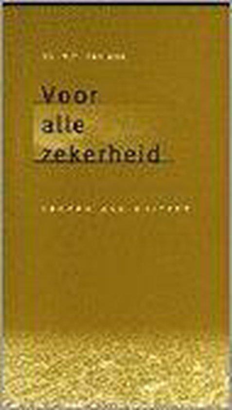 VOOR ALLE ZEKERHEID - M. van Dijk   Fthsonline.com