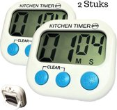 Gohh® 2 Kitchen Timers - Digitale Kookwekkers met Groot Display en Magneet