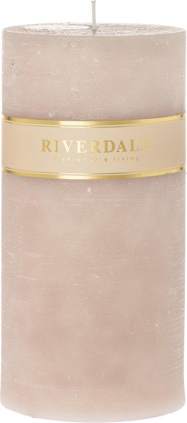 Riverdale Pillar – Kaars – 10x20cm – beige