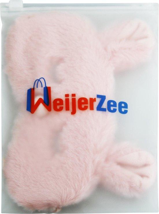 Slaapmasker Konijn - Verduisterend - Roze - WeijerZee