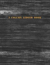 3 Column Ledger Book