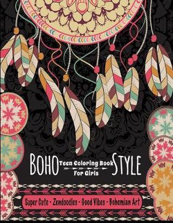 Teen Coloring Book For Girls - Boho Style