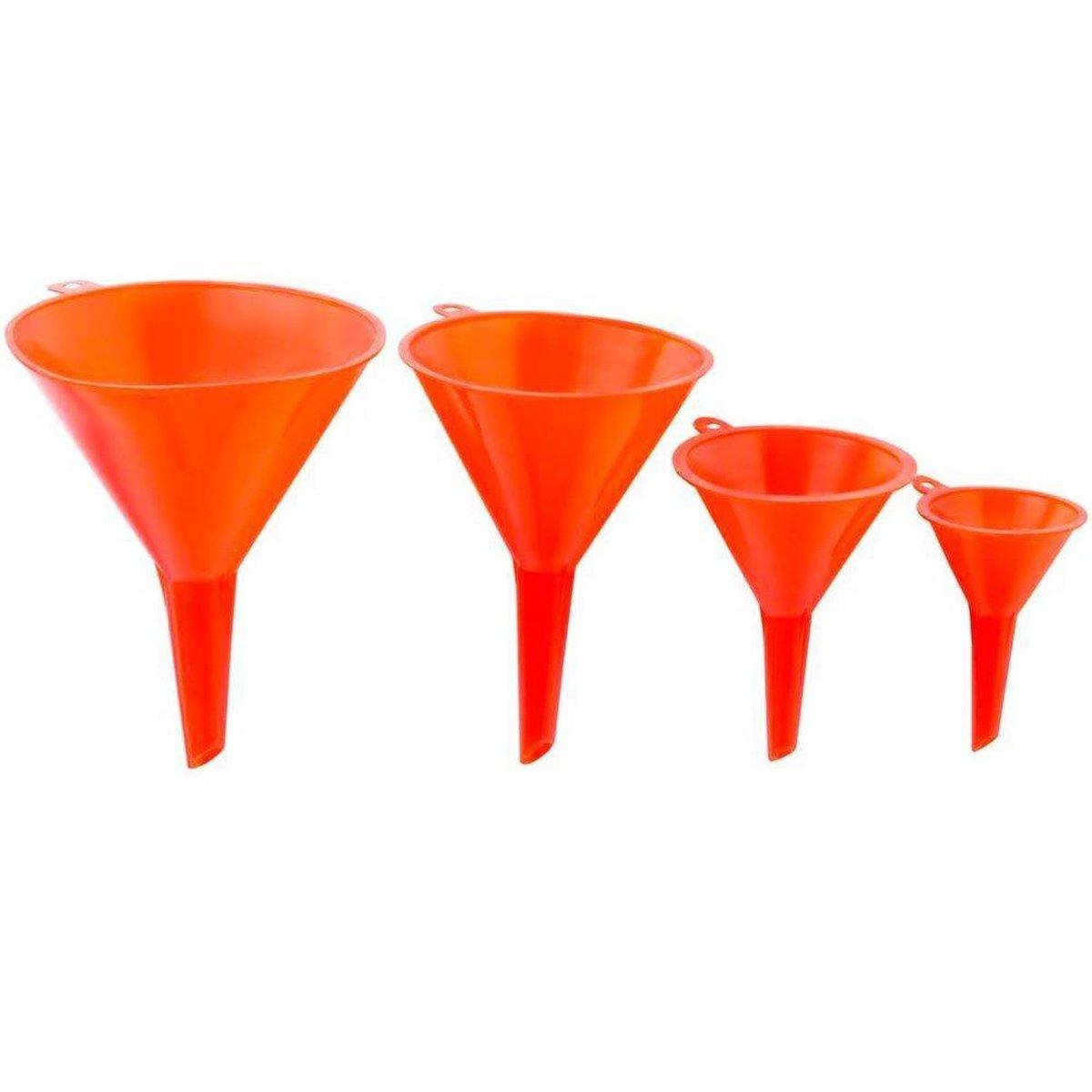Premium Plastic Trechter Set   4 Stuks     115/95/73/50mm   Voor Snelle en Schone Overdracht van Vlo