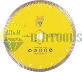 M&H diatools Diamantzaag Slijpschijf Diamantschijf Doorslijpschijf Droog Zaagblad turbo universeel 230mm X asgat 22,2mm-voor droog en nat werk-Diamantgereedschappen