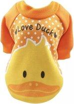 Trui voor honden - Oranje trui voor hondjes - Love Ducks Design - Maat S
