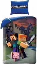 Minecraft - Dekbedovertrek - Eenpersoons - 140 x 200 cm - Multi