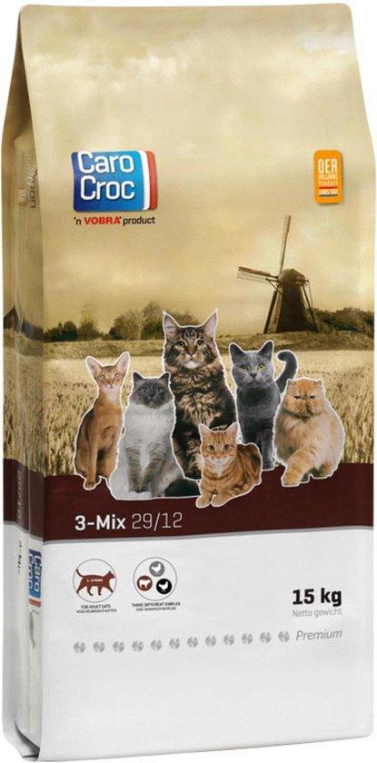 Carocroc Kat 3-Mix Adult - Gevogelte/Rund - Kattenvoer - 15 kg