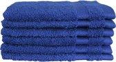 Katoenen Washandjes met Ophang Lus – 6 Pack – 15 x 21 cm – Kobalt Blauw