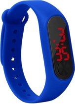 Fako® - Kinderhorloge - LED Digital Light - Donkerblauw