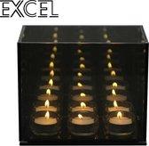 Endless Infinity Waxinelicht Cube - Smokey Grey 2x3 Excel