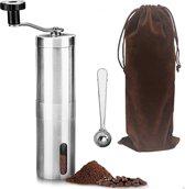 Handmatige Koffiemolen - Koffie Grinder - Incl. Tas, Lepel & Borstel