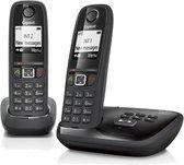 Gigaset AS405A - Duo DECT telefoon - met antwoordapparaat - Zwart