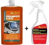 Caravan Shampoo & Wax + Zwarte Strepen Reiniger Voordeel SET   Starbrite