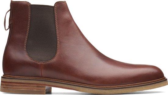 Clarks Clarkdale Gobi Heren Chelsea Boot - Mahogany Leather - Maat 45