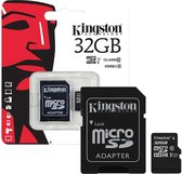 Kingston Micro SDHC 32GB  - UHS-I 45R FlashCard Class 10 + met adapter