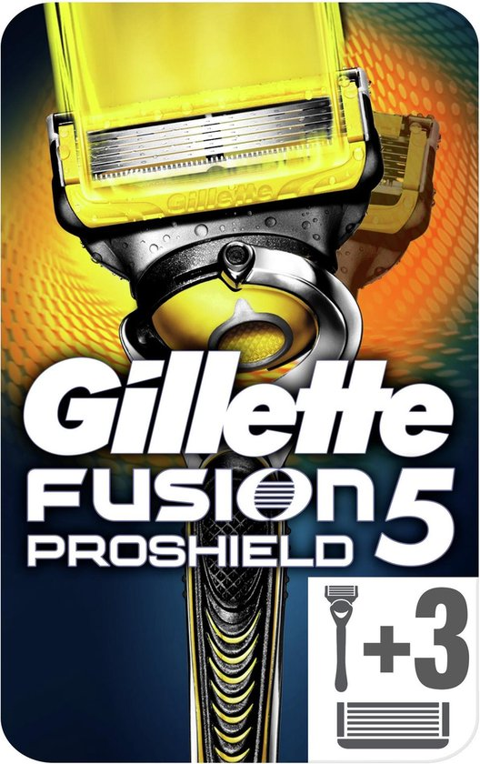 Gillette Fusion5 Proshield Scheersysteem + 3 scheermesjes Mannen