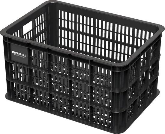 Basil Fietskrat Crate Large - 50 Liter - Zwart