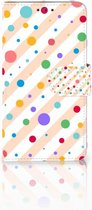 Telefoonhoesje Microsoft Lumia 640 Book Case Hoesje Design Dots
