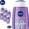 NIVEA SHOWER LOVE The Moment Douchegel 6 x 250ml - Voordeelverpakking