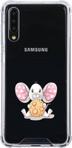 Samsung Galaxy A50 Transparant siliconen hoesje (Schattig muisje)