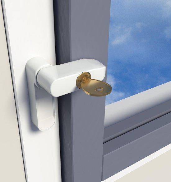 SecuMax 832 raamgrendel - incl. slot en sleutel - wit - 2510.832.12