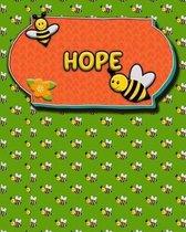 Handwriting Practice 120 Page Honey Bee Book Hope