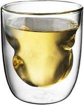 QDO Elements - Koffie- en theeglazen - Set van 2 Dubbelwandige Glazen - Earth - 75ml