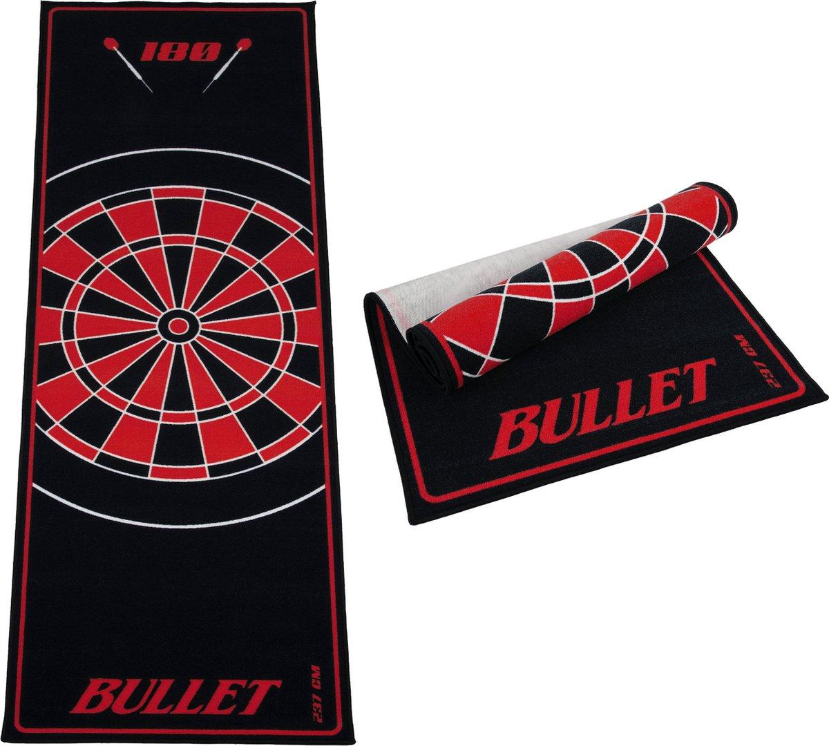 Dartmat - Bullet Rood 237x80 cm - gave mat - Dartvloerkleed