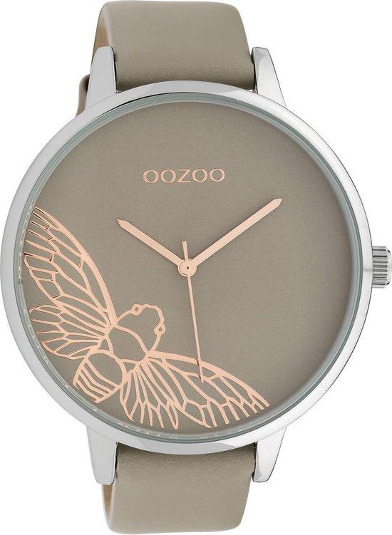 OOZOO Timepieces Taupe/Rosegoudkleurig horloge (48 mm) – Bruin