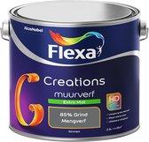 Flexa Creations Muurverf - Extra Mat - Mengkleuren Collectie - 85% Grind  - 2,5 liter